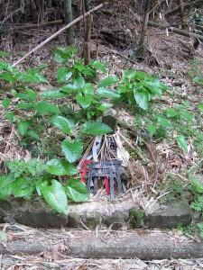 蚊野神社(かのじんじゃ)付近の路肩にあった山神さま