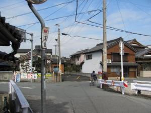 田丸城址へ向かう途中、変則的な交差点