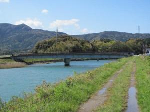 五十鈴川左岸堤防からの堀割橋