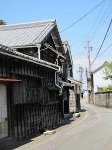 江神社から江交差点へ向かう途中
