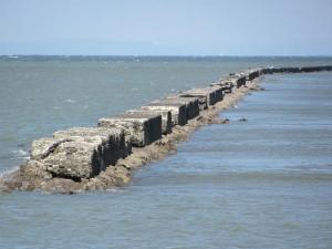 二見の海岸の風景