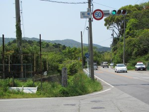 青峯山への石標