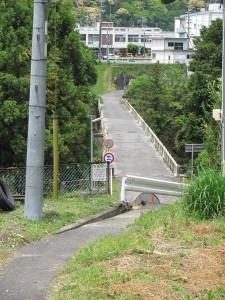 熊野古道から船木橋を望む