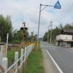 右折すると坂手国生神社の交差点
