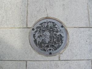 伊勢市の下水道マンホール蓋