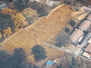 隠岡遺跡の発掘写真