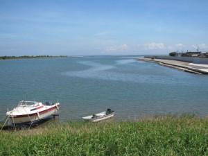宮川と伊勢湾の合流