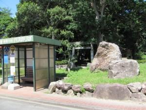 二木神社前のロータリー