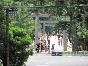 饗土橋姫神社から望む宇治橋