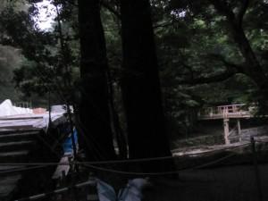 風日祈宮橋(工事中)と仮橋