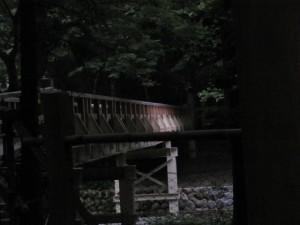 仮橋にスポットライト