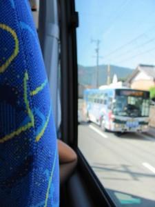 御木本道路(観光バス車内から)