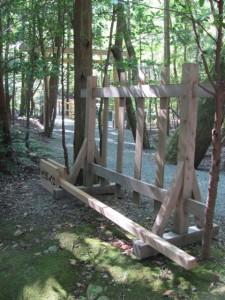 風日祈宮橋 渡始式の翌日(仮橋)