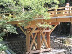 風日祈宮橋 渡始式の翌日(仮橋から)