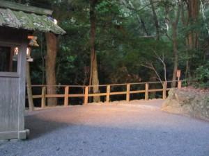多賀宮への石段の上