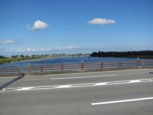 度会橋から宮川下流を望む