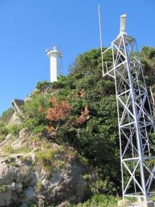鎧崎灯台を望む