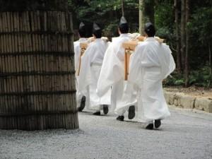 神御衣祭(御正宮から)