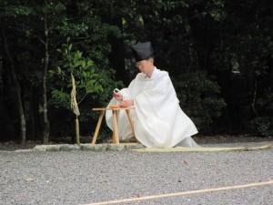 神嘗祭 奉幣の儀 (第一鳥居前祓所)