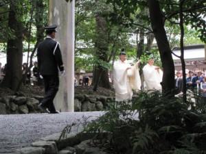 神嘗祭 奉幣の儀 (参進、第二鳥居)