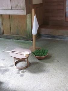 瀧原宮 秋の御祭準備 宿衛屋