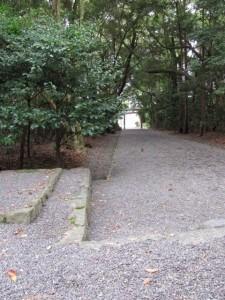 御塩殿神社の参道
