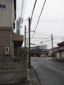 御塩道(浜郷小学校の前に交差点)