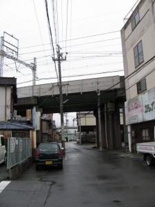 御塩道(吹上、近鉄の高架)