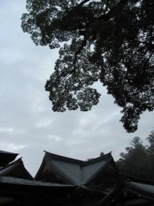 神楽殿の空