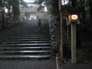 御正宮への石段
