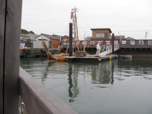 木造船みずき (海の駅 神社を出発)