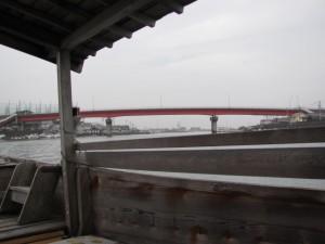木造船みずき (一色大橋へ)