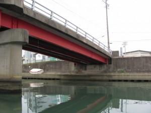 木造船みずき(勢田大橋、阿竹の渡し跡付近)