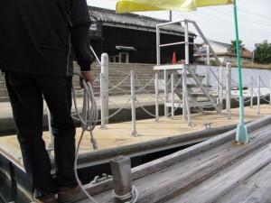 木造船みずき(川の駅 二軒茶屋)