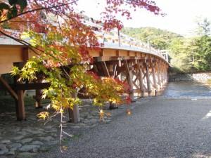 東詰から望む宇治橋
