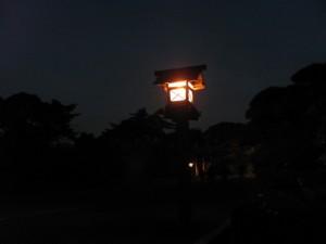 内宮神苑の夜明け前