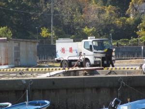 汐湯 旭湯の海水運搬車両