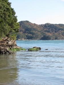 粟皇子神社の浜