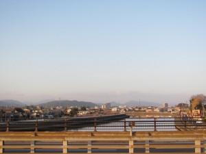 国道23号線 勢田川橋から上流を