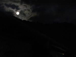 宇治橋から鼓ヶ岳を望む