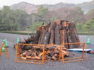 大篝火の準備(内宮)