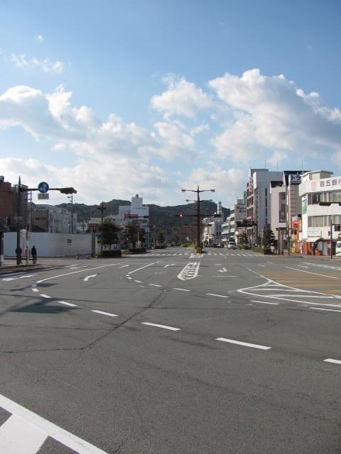 伊勢市駅前から外宮への道路
