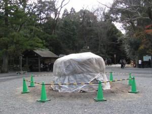 大篝火の準備(外宮 北御門参道)