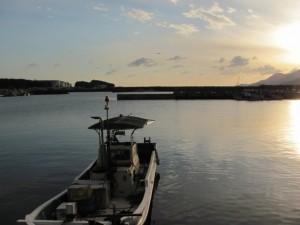 初日の出(東串良漁港)