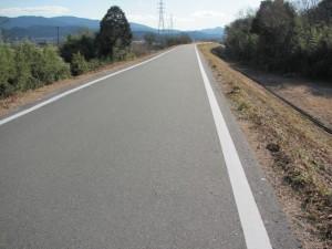 宮川の右岸堤防道路