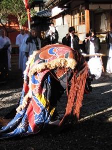 御頭神事(上社)獅子舞