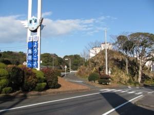 国道42号線から鳥羽駅へ