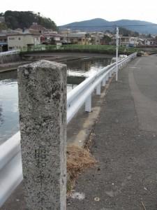 錦水橋から小田橋を望む