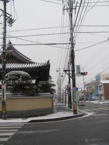 2011年の初雪(養草寺)
