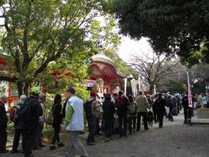 参加受付(玉造稲荷神社)